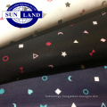 Printed on polyester interlock fabric for spring dress