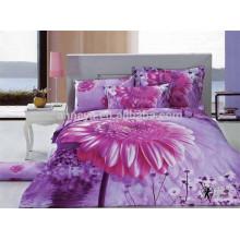 2015 100% algodón 3D diseño floral Bulk Bed Sheets China al por mayor
