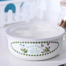 custom enamel ice bowl with PE lids & best quality and price