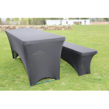 Plastic Folding Table and Bench Set with Cover