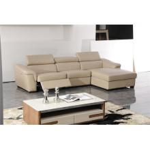 Sofá de salón con sofá moderno de cuero genuino (419)