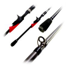 BAR007 1 seção lançando vara de pesca do robalo