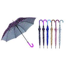 Bunter Entwurf gerader automatischer Regenschirm (YS-SA23083925R)
