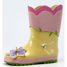 Children's Flower&Bee Designed Rubber Rain Boots
