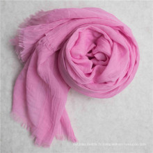 Tissu de voile de polyester de haute torsion pour le foulard