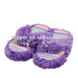 GIrl's plush flip flop slipper indoor