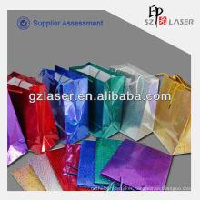 Custom hologram metallized paper bag for shopping