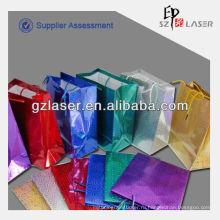 Пользовательский голограмм металлизированный бумажный пакет для покупок