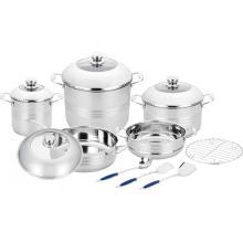 Juego de utensilios de cocina de 13 piezas con vaporizador y utensilios de cocina