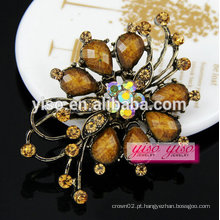 Best price lady rhinestone shoulder brooches