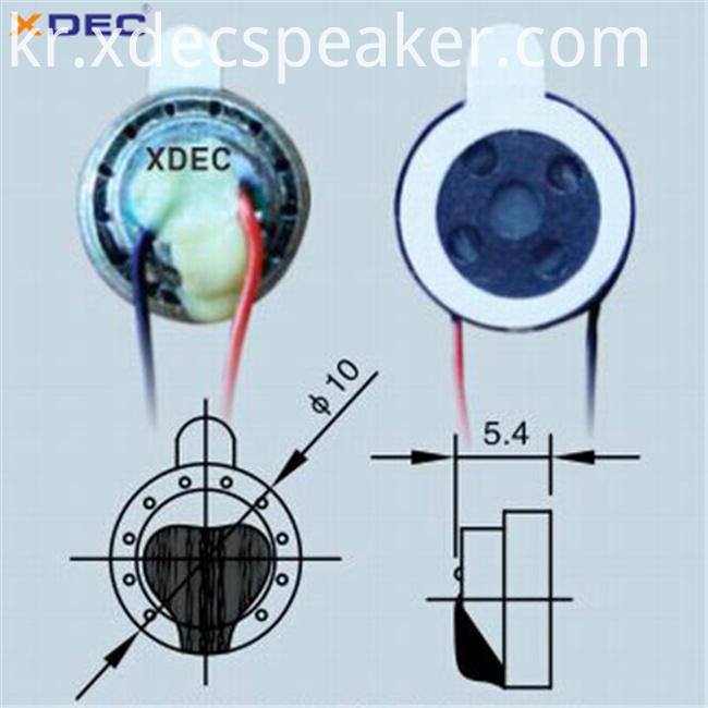 10mm 6ohm 0.7w mini speaker smart sunglasses speaker