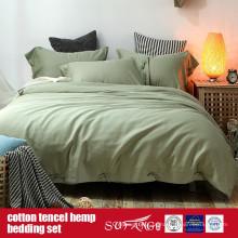 Cotton Lyocell Hemp Blended Duvet Cover Set Venda Direta Da Fábrica