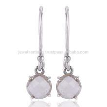 Natürliche Kristall Edelstein Handgemachte 925 Silber Tropfen Ohrring Schmuck