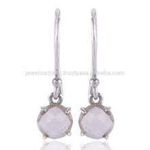 Natural Crystal Gemstone Handmade 925 Silver Drop Earring Jewelry