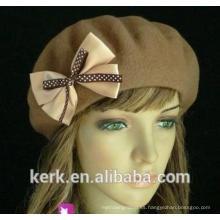 Nieve invierno hermoso bowknot calientes sombreros de punto de punto