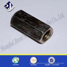 Fabricante de China de aço carbono de alta resistência natural galvanizado porca longa hex