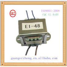 High quality CE UL CQC RHOHS approval ei-48 12v 12w transformer