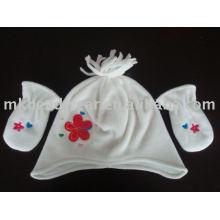 cheap baby fleece hat and mitten set
