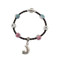 Bracelet en cuir affligé, bracelet en fleur, bracelet en cuir bon marché