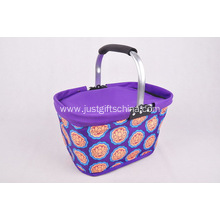 600D Folding Cooler Shopping Basket