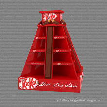 Pyramid-Shaped Cardboard Chocolate Pallet Display Stands