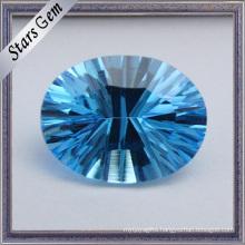 Beautiful Aquamarine Oval Millennium Cut Gemstone