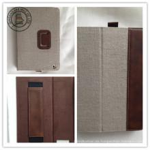 Cajas de la PC de la tableta del cuero de la cápsula del cáñamo para el iPad