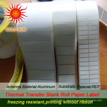 Etiqueta térmica de papel impresso (TPL-015)