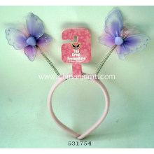 A headband with two butterflies