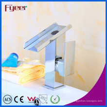 Fyeer venta caliente grifo mezclador de lavabo de cascada de latón macizo