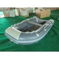 Vente chaude couleur grise bateau gonflable à moteur pour la pêche