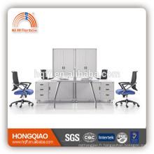 (MFC) PT-03-1Fe cadre en acier inoxydable mobilier de bureau de haute qualité pour 4 personnes poste de travail