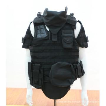 Protección completa Aramid Body Armor Ballistic Vest Traje de ropa a prueba de balas