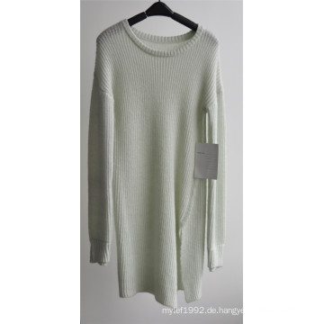 Runder Hals Pure Farbe Pullover Strickpullover für Damen