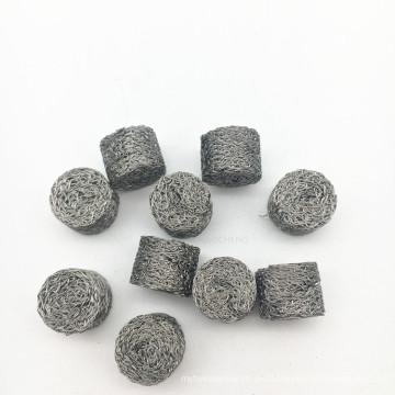 Buena tela de malla hecha punto comprimida acero inoxidable de la corrosión 304 316 cabida para la turbina de gas