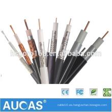 China proveedor rg6 cable coaxial abrazadera y cable coaxial rg11