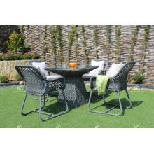 Café / conjunto de jantar de poli retíneo sintético para jardim ao ar livre