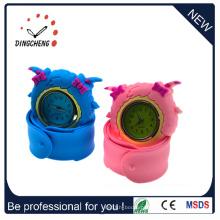 Animal Design Rubber Silicone Slap-up Papa Watch para Crianças (DC-1056)