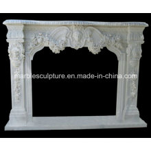 Statue Marble Fireplace Mantel (SY-MF036)