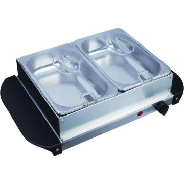 Tafelblad 2 Pan Buffet Food Warmer