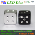 MCU control colorful LED CNC aluminium alloy dice Melors 2018 Top quality play game dice