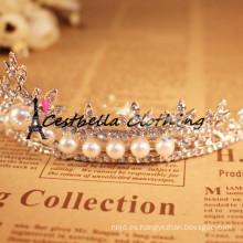 Venta caliente de la perla del rhinestone cristalino cristalino de la manera de la manera cristalina del desgaste headwear headwear