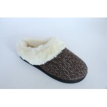 Zapatillas interiores cálidas para mujeres con piel de felpa larga