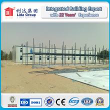 Casa de alojamiento prefabricada de campo de trabajo de techo inclinado
