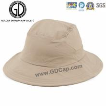 100% Poliéster Respirável Bom Qualidade Sharp Bucket Hat