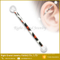 Flexible Bioflex Print Leopard logo 38mm Cartilage Earring Barbell