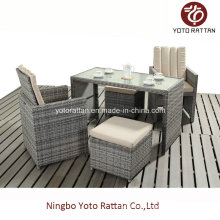 Rattan Dining Set for Outdoor with SGS Certificated (417-A)