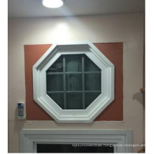 Customized PVC Fixed Window with Thick Glass/5+12A+5mm Double Glass