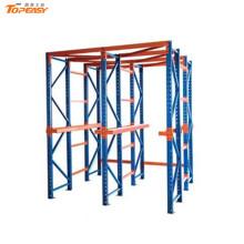 acionamento ajustável de alta densidade em estantes de paletes