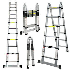 3.8m double side aluminum telescopic ladder